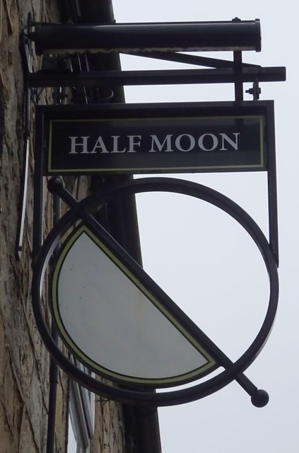 Sign for the Half Moon, Pool in Wharfedale