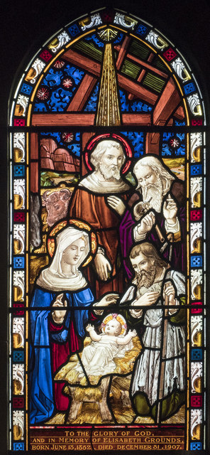 St Peter, March - Stained glass window