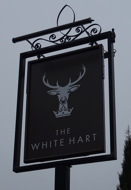 Sign for the White Hart, Pool in Wharfedale