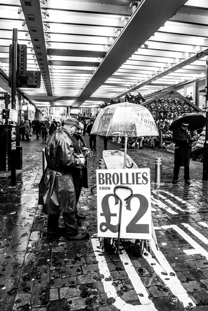 The Brolley Man, Manchester Market Street