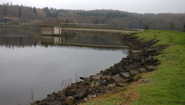 Inlet tower at Trimpley Reservoir