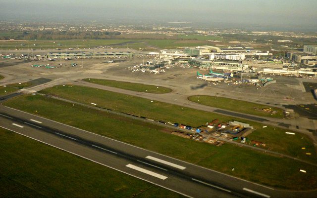Dublin Airport from the air