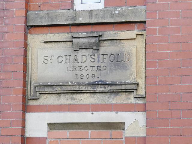 St Chad's Fold, Baron Street, Rochdale - detail