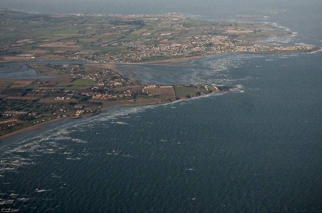 The coast at Donabate from the air