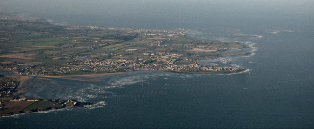 The coast at Portrane from the air