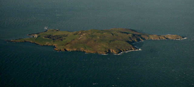 Lambay Island from the air