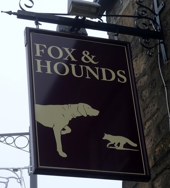 Sign for the Fox and Hounds, Bramhope