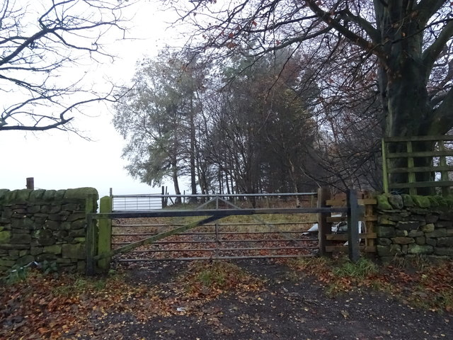 Gated track off Otley Old Road
