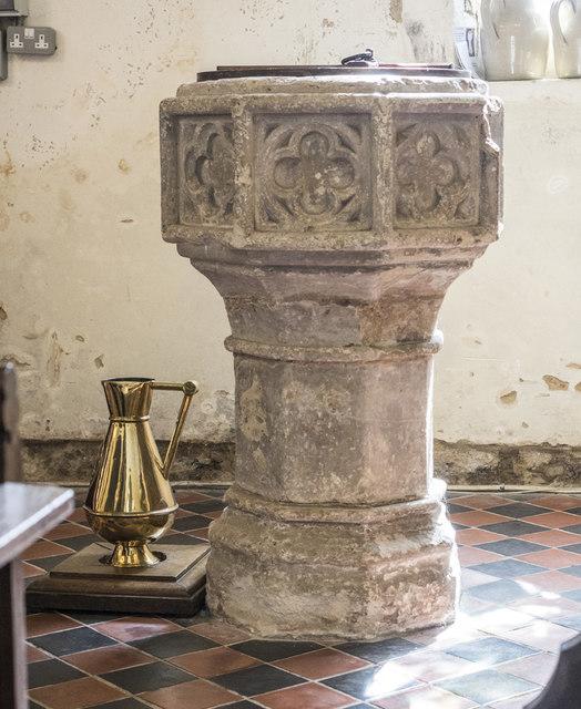 St George, Littleport - Font