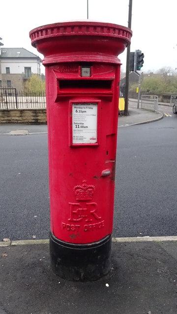 Elizabeth II postbox on Haigh Wood Road