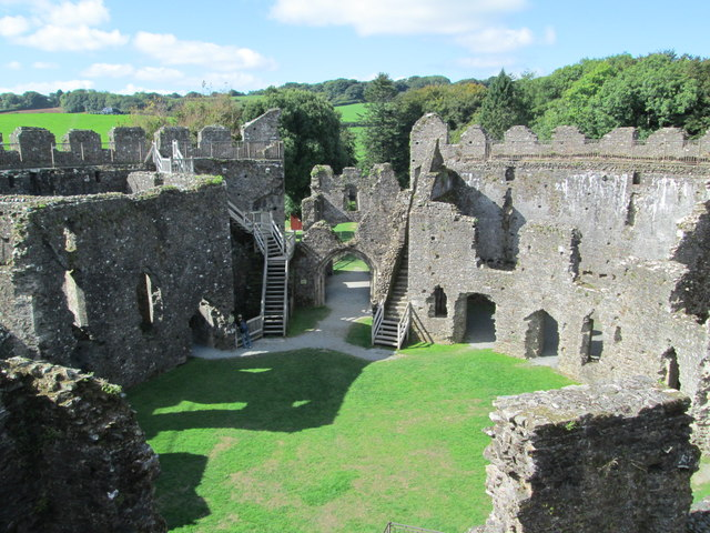 Interior of Restormel Castle