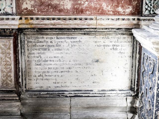 St Mary, Denham - Monument detail