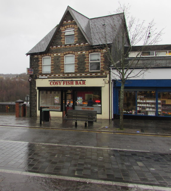 Cosy Fish Bar, 1 High Street, Bargoed