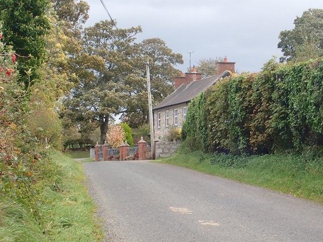 Houses at Corbett's Hillhead on the Ballynagappoge Road
