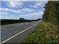 SP2259 : The A46 from the end of King's Lane  by Stephen Craven