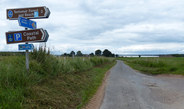 Country lane towards Rhynd