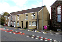 SS6696 : Row of four houses, Neath Road, Plasmarl, Swansea by Jaggery