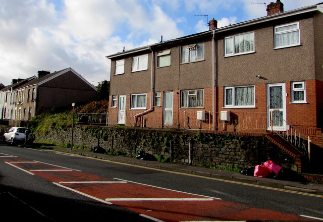 Row of three houses, Neath Road, Swansea