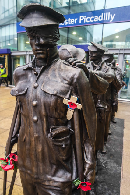 Victory Over Blindness statue, Manchester Piccadilly Station