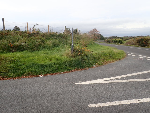 The Ballykeel Road junction on the A25