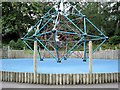 TQ8110 : Children's climbing frame in Alexandra Park, Hastings by Patrick Roper