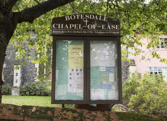 St Botolph's Chapel, Botesdale - Noticeboard