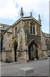 TL1998 : Porch on south face of St John the Baptist's Church by Roger Templeman