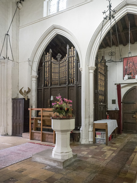 All Saints, Harston - Organ