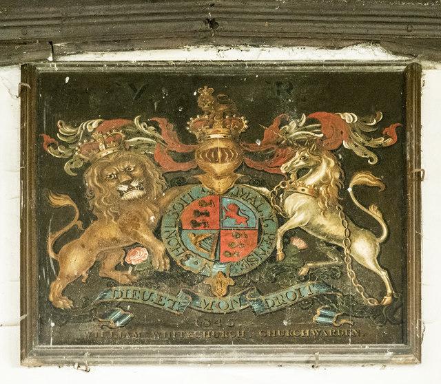 All Saints, Harston - Royal Arms