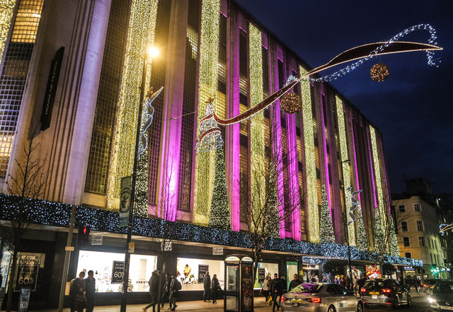 The last Christmas for House of Fraser, Deansgate