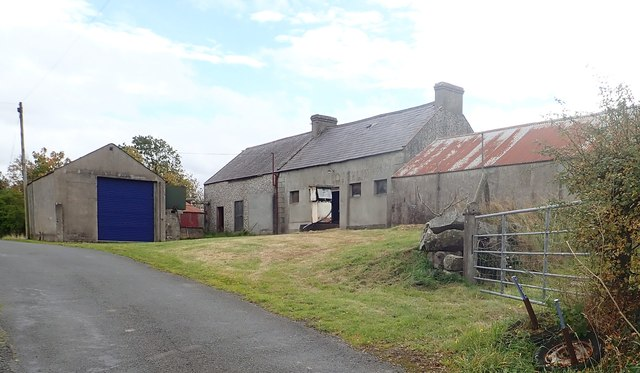 The former Hugh O'Loughlin Garage at Clonduff