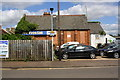 TL2099 : Garage building beside Star Road by Roger Templeman