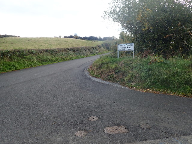 The Convent Road junction on the Islandmoyle Road