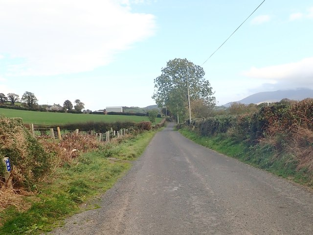 View ESE along the central section of Islandmoyle Road