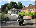 SU1026 : Biker in Coombe Bissett by Des Blenkinsopp