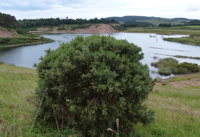 Flooded sand and gravel pit
