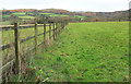 ST1435 : Fence, Flaxpool by Derek Harper