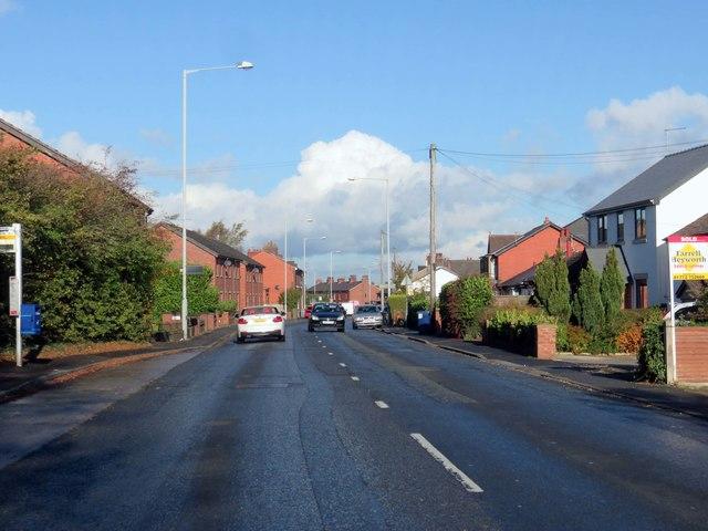 Leyland Road heading to Preston