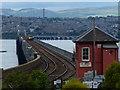 NO3926 : Signal box at Tay Bridge South by Mat Fascione