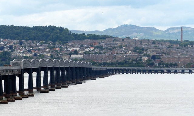Tay Bridge and the city of Dundee