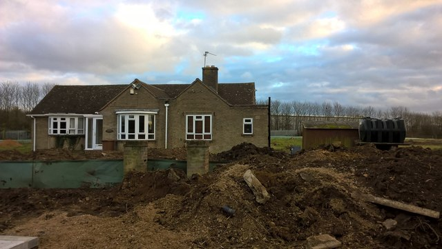 Derelict bungalow awaiting demolition near Werrington Junction