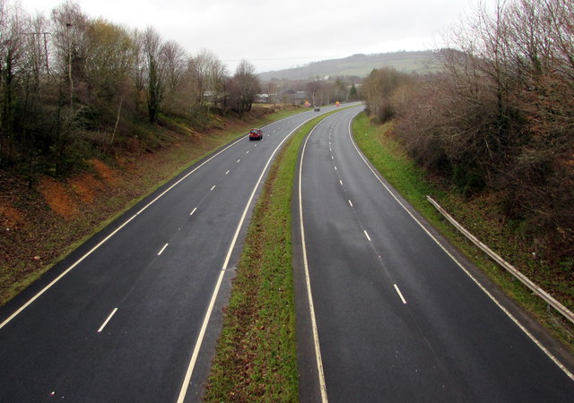 West along the A40, Brecon