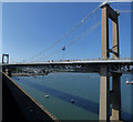 SX4358 : Eastern tower of the Tamar Bridge by Stephen Craven