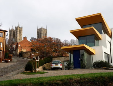SK9771 : Architectural juxtaposition by Jonathan Billinger