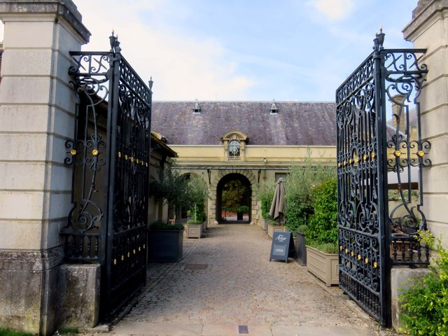 The entrance to the Astor Grill at Cliveden House