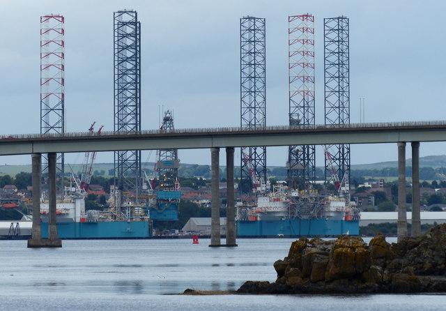 Tay Road Bridge and Dundee Docks