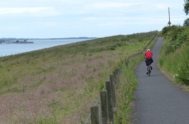 Cycling east along the Fife Coastal Path