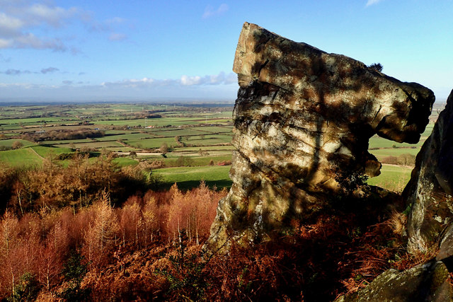 Hanging Stone and the Vale of Mowbray
