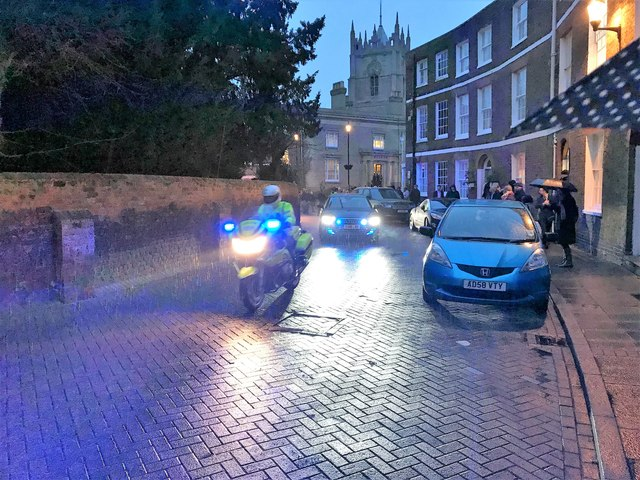 Royal Visitors With Police Escort The Crescentwisbech