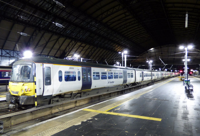 Class 365 train at Glasgow Queen Street station